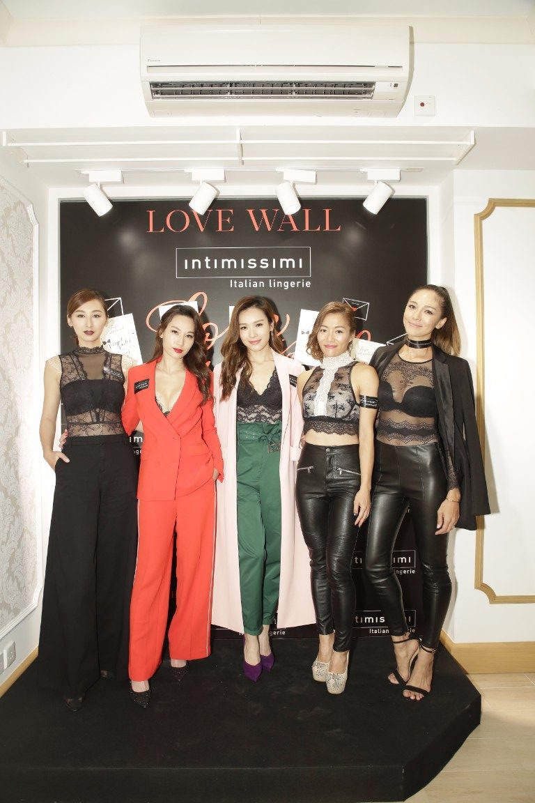 Intimissimi Love Letter Event_From left to right, Samantha Ko, Kate Tsui, Ali Li, JuJu Chan and Cara G_AM2_5310